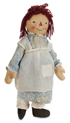 Rare American Cloth Raggedy Ann by Exposition Doll & Toy - 1935 - Theriault's Antique Doll Auctions