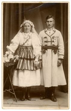 Folk Costume, Costumes, Polish Folk Art, My Heritage, Lithuania, Civil Rights, Traditional Dresses, Folklore, Old Photos