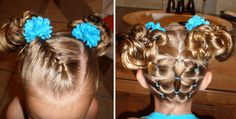 Hair style for little girl. I would have a try for my flower girls.
