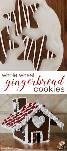 This flavorful whole wheat gingerbread cookie dough is ideal for making cookies with little helpers as it is pliable and does not easily crumble.  #gingerbread #gingerbreadcookie #gingerbreadhouse #healthy #dairyfree #norefinedsugar #wholewheat #wholewheatcookies