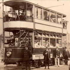 A Birmingham tram from the early 1900s  Just look at all the passengers. Love this photo.