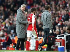 Mathieu Debuchy, who made his first Premier League appearance since November 2015, came off injured in the 16th minute