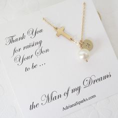 Mother of the Groom Gold Necklace by Adriana Sparks Beautiful and affordable for your Mother in Law www.adrianasparksjewelry.etsy.com