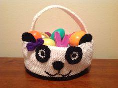 Panda Bear Crochet Easter Basket - Large - PDF PATTERN. $4.00, via Etsy.