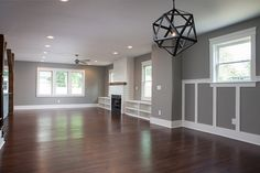 Open floor plans allow for versatility of the space