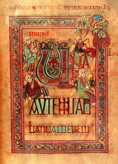 #HappyStPatricksDay from I Require Art—Book of Kells (c. 800 AD), #Ireland, national treasure. http://on.fb.me/1CroacR
