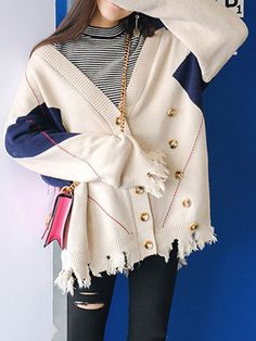 Amazing Casual Button Fly V-neck Long Sleeves Sweaters For Women on Newchic, there is always a plus size cardigan sweaters that suits you! Plus Size Clothing Stores, Clothing Sites, Plus Size Dresses, Plus Size Outfits, Long Sleeve Sweater, Sweater Cardigan, Plus Size Cardigans, Dress Outfits, Autumn Fashion
