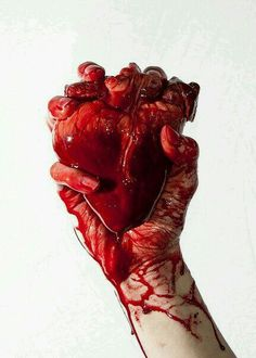 Act 1 Scene 7 After Duncan is murdered by Macbeth brutally with the daggers. Shakespeare uses blood for imagery and to show the brutality of MacBeth. This picture demonstrates the brutal action with the bloody hands. And the heart demonstrates that MacBeth went that far and his heart turned into the bad.