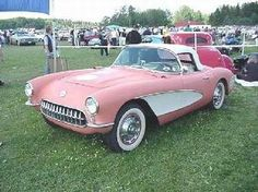 pink corvette - 1956 - maybe this is more my style? And don't have to worry about any dude wanting to drive it or go shopping with me