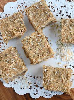 Hemp Seed and Toasted Coconut Bars (Vegan, Grain-Free, Gluten-Free) #vegansnacks #paleo #veganrecipes
