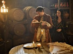 Reign - Bash (Torrance Coombs) and Mary (Adelaide Kane) with a baby, a sneak peek at the next episode