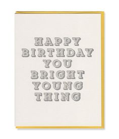 bright young thing birthday card
