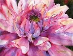 Stunning watercolor painting of pink flower, this is beautiful!