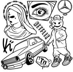Sketch Tattoo Design, Tattoo Sketches, Tattoo Drawings, Tattoo Designs, Border Tattoo, Tattoo Flash Art, Graffiti Lettering, Colorful Drawings, Angel Tattoo Men