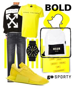 """Men go sporty"" by tr-17 on Polyvore featuring Off-White, Yves Saint Laurent, Marc Jacobs, adidas, Nixon, MSGM, men's fashion and menswear"