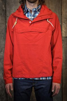 Battenwear Packable Anorak Red