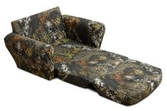 Hayden has a camo fetish she would love this! For the kids! Mossy Oak Kids Sleepover Chair Sofa