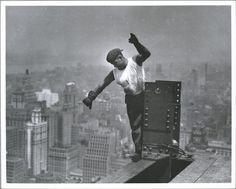 """""""the empire state building took only 410 days to build, by 3 400 workers, many desperate for work at the height of the Depression, most of them immigrants and mohawk indian iron workers"""""""