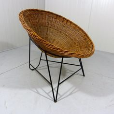 Fifties Rattan Chair Wicker Chair