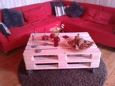 Pallet coffee table--turquoise??