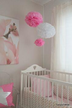Pom-Poms in girls room - Coconut White