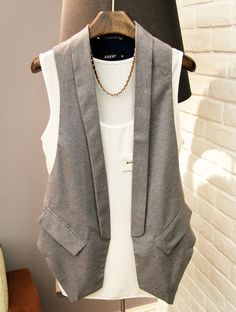 UK fashion brand  purchasing jeans suit vest buckle-free suit vest with tri-color into the