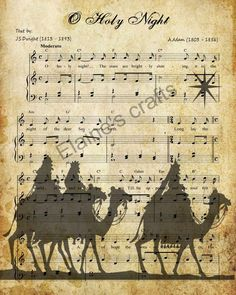 O Holy Night Christmas carol with wise men, Mary, Jesus, Joseph and shepherds These primitive signs you download and print as many times as you want! You get all three! This is one of my favorite Christmas carols and I thought it would add a special touch to anyones Christmas