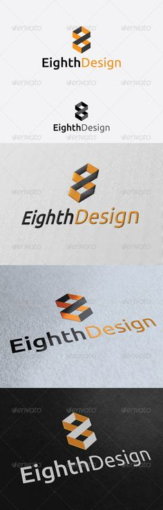 Eighth Design  Logo Design Template Vector #logotype Download it here: http://graphicriver.net/item/eighth-design-logo-template/2950899?s_rank=232?ref=nesto