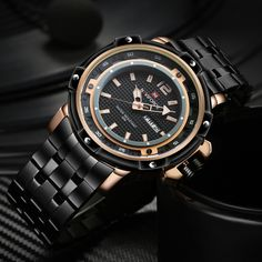 2280390e854 NAVIFORCE Men s Brand Full Steel Quartz Watch Homem Exército Relógios  militares Homens Waterproof Sports Relógios de