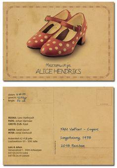 geboortekaartjes Meisjes : geboortekaartje Alice | Originele geboortekaartjes van Hierbenik