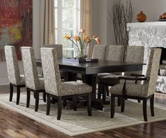 Decor Formal Dining Room Sets With Wooden Floor And Carpet In Also Flower Vase On