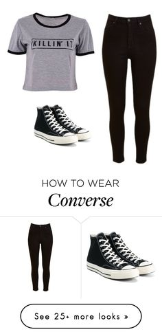 """""""Untitled #501"""" by emily147147 on Polyvore featuring Lee and Converse"""