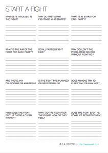Expressing Emotions (Writing Worksheet Wednesday) - Creative Writing Worksheet – Expressing Emotions (PDF) Free writing printables for writers - Creative Writing Worksheets, Creative Writing Tips, Book Writing Tips, Writing Quotes, Writing Resources, Writing Help, Writing Ideas, Writing Prompts, Writing Poetry
