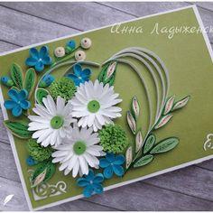 С благодарностью 💗#квиллинг #открытки #цветы #бумага #ручнаяработа #витебск #quilling #postcards #handmade #paper #flowers