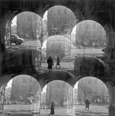 Harry Callahan (1912–1999) … Chicago … 1948 … Harry Morey Callahan took up photography in 1938, while working as a clerk for the Chrysler car company in Detroit. Although he lacked formal training, in 1946 he was invited by the Hungarian artist László Moholy-Nagy to teach at the Institute of Design in Chicago, where he experimented with street photography and, as pictured here, spectacular multiple exposures. Harry Callahan: The Street is published by blackdogonline.co.uk