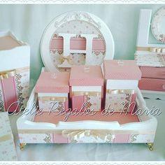 Kit Heloísa!! Rosa antigo!! Perfeito!! #kitmaternidade #kithigiene #kithigienemenina #maternidade #maedoano #gravidez #gravida2015 #bandejacompotinhos #regalosdemaria