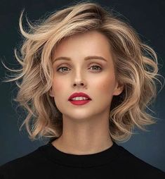 Bob Hairstyles For Thick, Mom Hairstyles, Curled Hairstyles, Medium Hair Styles, Short Hair Styles, Longer Pixie Haircut, Edgy Hair, Haircut And Color, New Haircuts