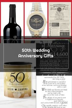 50th Wedding Anniversary Gifts - Looking for unique golden anniversary gift idea...#50th #anniversary #gift #gifts #golden #idea #unique #wedding 50 Wedding Anniversary Gifts, 50th Anniversary, Happy 50th, Unique, Couple, Gift Ideas, Beautiful, Amazing, Top