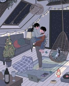 This Korean Artist Giving Serious Couplesgoals Through His Illustration Drawing 642114859351403797 Couple Amour Anime, Anime Love Couple, Couple Cartoon, Cute Couple Drawings, Cute Couple Art, Cute Drawings, Drawings Of Couples, Cartoon Kunst, Cartoon Art
