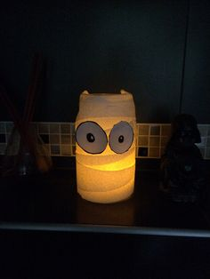Photophore Halloween DIY sopalin yeux feuille A4