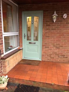 Another Illinois, this time in Chartwell Green and fitted with Inspire glass. Green Front Doors, Composite Door, Stables, French Doors, Illinois, Garage Doors, Industrial, Inspire, Glass