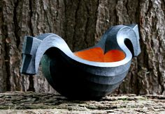 I carved this ale bowl from some more of the red alder I mentioned in my last post. Then I tried something new for me: I painted (ebonized I suppose) the outside with waterproof black India ink. …