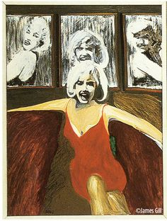 Left panel from pop artist James Gill's painting Marilyn Triptych (1962)Monroe c. 1953♦️More Pins Like This At FOSTERGINGER @ Pinterest ♦️