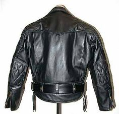 The padded Columbia jacket REAR view - #Langlitz Leathers.