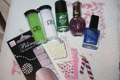 Jusqu'au 16/02 !!! 1 Lot Nails Art : vernis, poudre velours, stickers, nails patchs, ... !!!