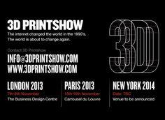 Exposición internacional de impresión 3D en Londres (vídeo) http://www.print3dworld.es/2013/11/exposicion-internacional-de-impresion-3d-en-londres-video.html