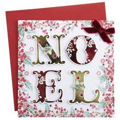 Christmas window design - one letter in each frame