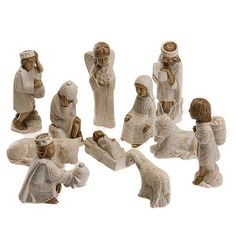 Small Figurines, Online Painting, White Paints, Cribs, Autumn, Sculpture, Nativity Scenes, Online Sales, Clay Ideas