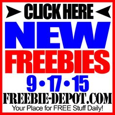 ►► NEW FREEBIE HOTLIST – FREE Stuff for September 17, 2015 ►► #Free, #FREEStuff, #Freebie, #HOTLIST ►► Freebie-Depot