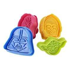 Gwhole Set of 4 pieces Star Wars Cookie Cutters Plungers Mold for Cake Sugarcraft Fondant Bakeware Decoration